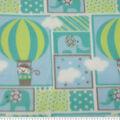 Nursery Fleece Fabric -Adventure Patch
