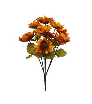 Blooming Autumn Water Resistant Sunflower Bush-Orange