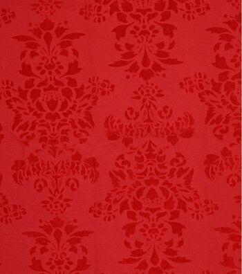 """Embossed Velvet Fabric 56""""-Red"""