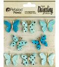 Darjeeling Teastained Mini Butterflies 1\u0022-Teal