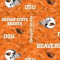 Oregon State University Beavers Fleece Fabric -Digital