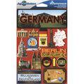 Jet Setters International Dimensional Stickers 4.5\u0022X6.75\u0022-Germany