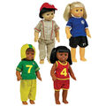 Sports Doll Clothes, 4 Outfits for 16\u0022 doll