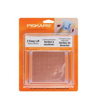 Fiskars 2 Pack Easy Lift Stamp Blocks