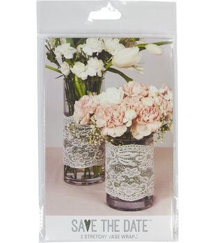 Save the Date Stretch Vase Wrap