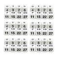 Koplow Games Math Number Dice, 8 Per Set, 6 Sets