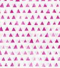 Keepsake Calico Cotton Fabric 43\u0022-Fuchsia Shaded Triangle