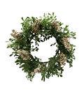 Blooming Holiday 13.5\u0027\u0027 Champagne Berry & Glistening Greenery Wreath