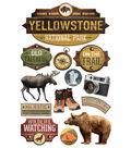 Paper House 4.5\u0027\u0027x8.5\u0027\u0027 3D Stickers-Yellowstone National Park