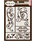 Bo Bunny Essentials Thick 9.5\u0027\u0027x6.5\u0027\u0027 Stencils-Fancy Flourishes