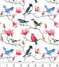 Snuggle Flannel Fabric -Colorful Birds On Branches