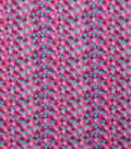 Novelty Cotton Fabric-Pink Mermaid Scales Glitter