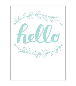 Park Lane A2 Embossing Folder-Hello