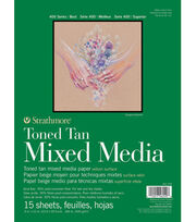 "Strathmore 9""x12"" 400 Series Mixed Media Pad-Toned Tan, , hi-res"