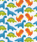 Snuggle Flannel Fabric 42\u0027\u0027-Dinosaur Friends