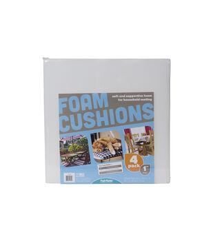 """Fairfield Project Foam 16"""" x 16"""" x 1""""  4-Pk Seat Cushions"""