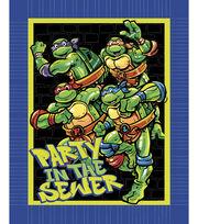 Teenage Mutant Ninja Turtles No-Sew Fleece Throw -Sewer Party, , hi-res