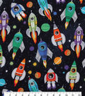 Novelty Cotton Fabric-Rocket Ships