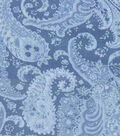 2 Yard Pre-Cut Wide Quilt Cotton Fabric Remnant-Large Blue Paisley