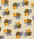Blizzard Fleece Fabric -Honeycomb Chubby Bee