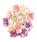 Prima Marketing Moon Child Mulberry Paper Flowers-Pearlescent Gamma Ray