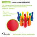 Champion Sports Colored Foam Bowling Pin Set