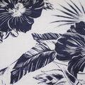 Coastal Lagoon Rayon Apparel Fabric-Jumbo Tropical Leaves on White