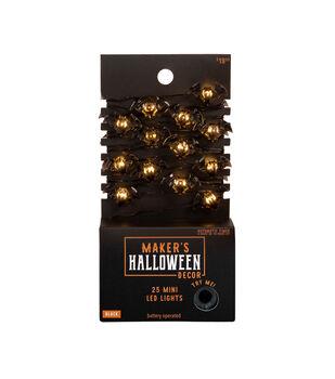 Maker's Halloween Decor Black Bat Mini LED Lights