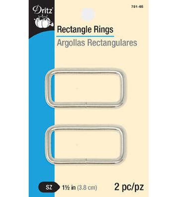 Dritz Rectangle Rings-Nickel