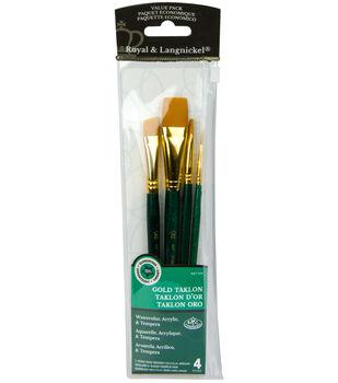 Royal Langnickel 4pc Brush Set-Gold Taklon