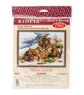 RIOLIS 15.75\u0027\u0027x11.75\u0027\u0027 Counted Cross Stitch Kit-Tiger Cubs in Snow