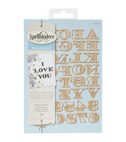 Spellbinders Shapeabilities Dies-Etched Alphabet With Numbers, , hi-res