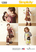 Simplicity Pattern 1289A 3-4-5-6-7--Child Dress