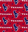 Houston Texans Fleece Fabric 58\u0027\u0027-Red