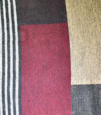 "Sportswear Acrylic Fabric 52""-Burgundy Squares"