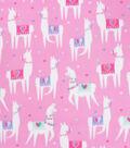 Blizzard Fleece Fabric-Party Llama 2