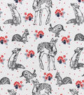 Snuggle Flannel Fabric 42\u0022-Sketched Woodland & Flowers