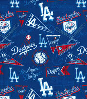 Los Angeles Dodgers Vintage MLB Cotton Fabric, , hi-res