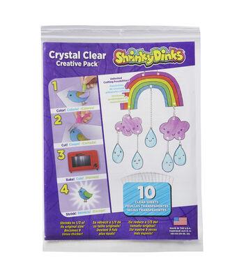 Shrinky Dinks 8''x10'' Sheet Creative Pack-Crystal Clear