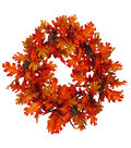 Simply Autumn Leaves & Pinecone Wreath
