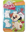 Spark 4 pk Playful Pups Plaster Magnets