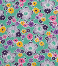 1930\u0027s Cotton Fabric 43\u0022-Packed Flowers Green