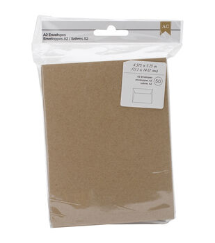 American Crafts A2 Envelopes 4.378''x5.75'' 50 pcs