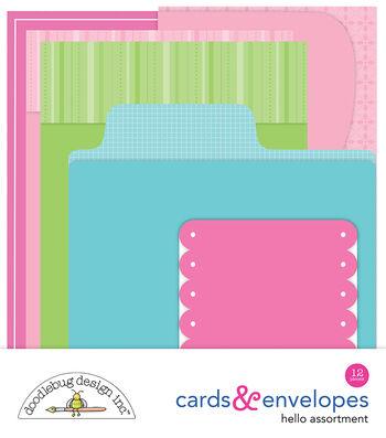 Doodlebug Design Hello 12 pk Cards & Envelopes