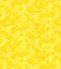Keepsake Calico Cotton Fabric-Yellow Textured Vines