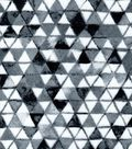 Luxe Flannel Fabric -Culture Triangle Black & White
