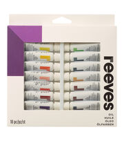 Reeves Oil Paint 10ml 18/Pkg-Assorted Colors, , hi-res