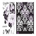 Prima Marketing Lavender Frost 11 pk Cling Rubber Stamps with Stencil