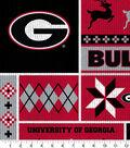 Georgia Bulldogs Fleece Fabric-Sweater