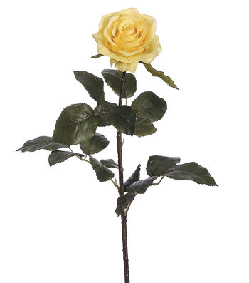 "Bloom Room 27.5"" Confetti Rose Stem-Yellow/Cream"